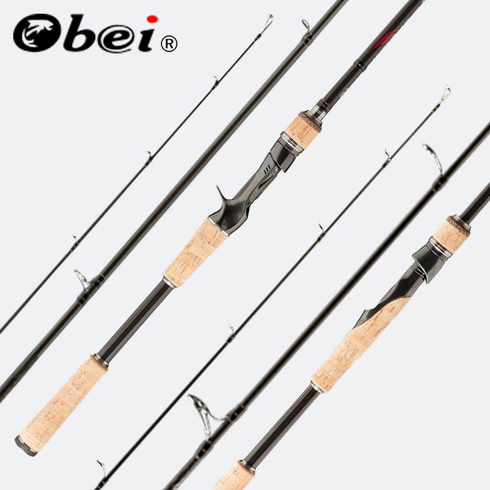 Obei perigee baitcasting fishing rod travel ultra light spinning left 5g-40g M / ML / MH accion Rod 1.8 m 2.1 m 2.4 m 2.7 m 3 section