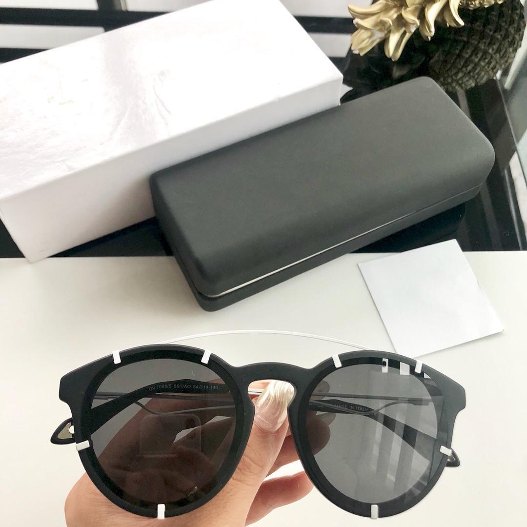 Yeni Gözlük Kedi Moda Ile Bayan Popüler Büyüleyici Stil Tasarımcı Lens Güneş Gözlüğü Anti-UV400 Zarif En Kaliteli 7088 Kutusu TSSGA