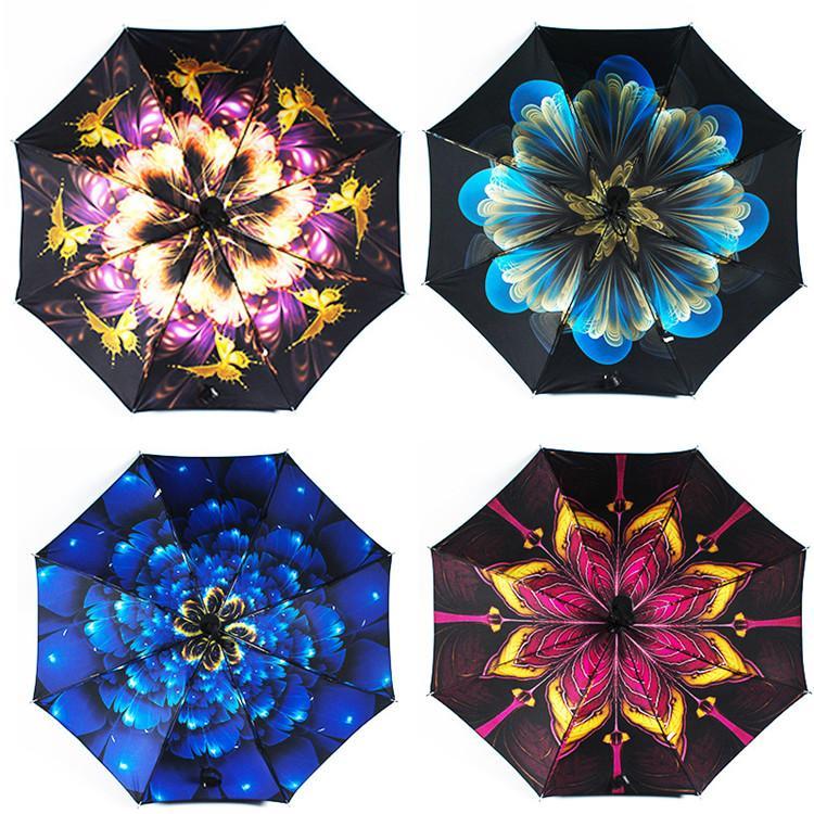 Creative Multi-Funktions-schwarzer Schirm schwarzer Gummi drei Falten regen umbrella anti-Sonnenbrand-proof ultravioletten Sonnenschirm T9I00121