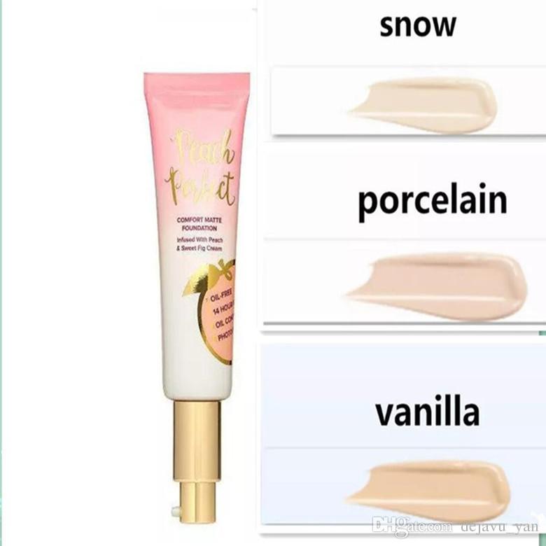Fond de teint chaud DHL gratuit Fond de teint Peach Perfect Comfort Matte 3colors 48ml Crème pour le visage Foundation Haute qualité