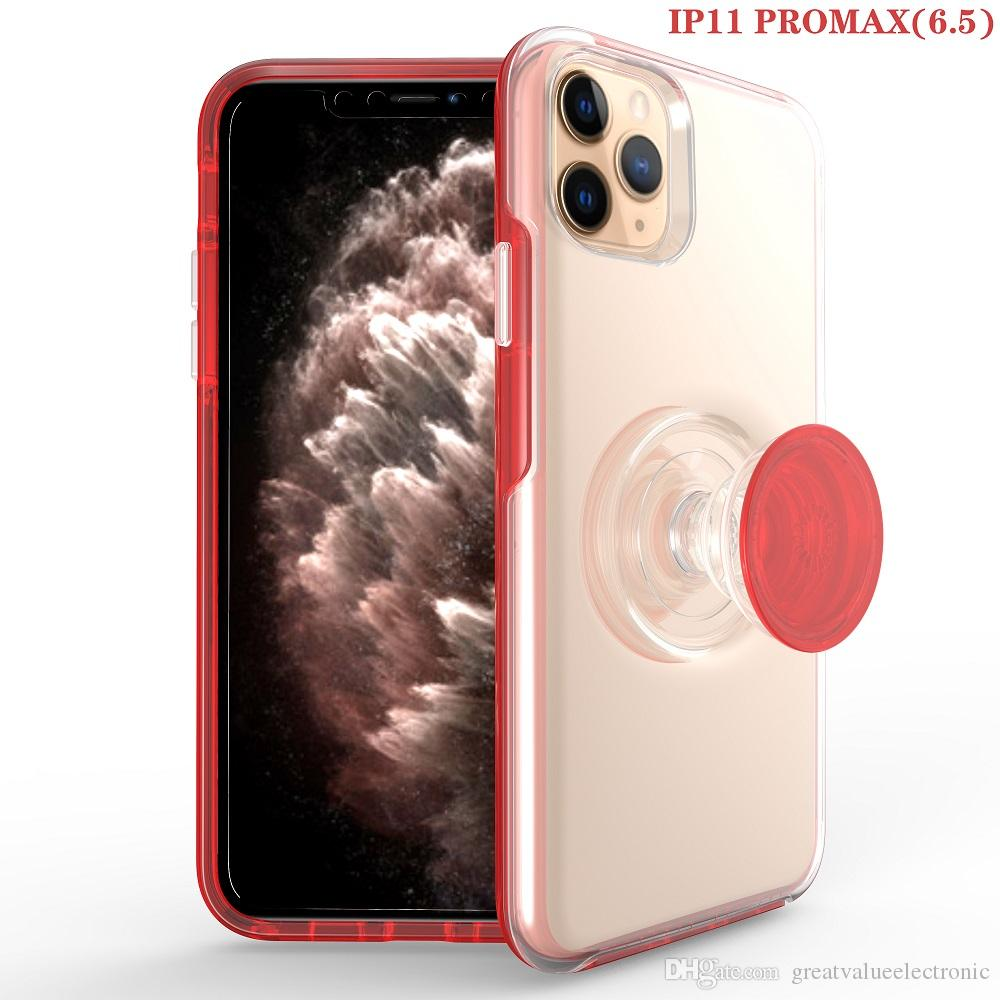 Hybrid shockproof Kistand POP case for iphone 6 7 8 plus iphone 11 11pro max x xs max High quality Clear cover