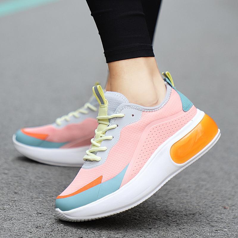 Ayakkabı Koşu Yüksekliği Artırma 6CM Kadınlar Sneakers Kadın Açık Spor Ayakkabı Atletik Yüksek topuk Kıtıklanması ayakkabı Rahat