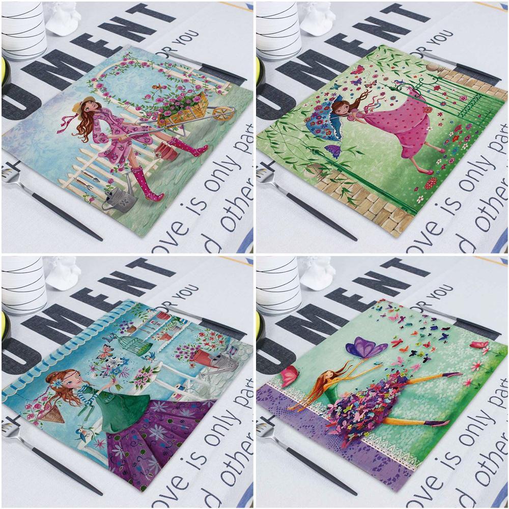 Provence Dish guardanapo de linho guardanapos Kitchen 42X32 toalha guardanapos de mesa Pano de tabela Paper Mats guardanapos casamento de papel Handkerchief T200618