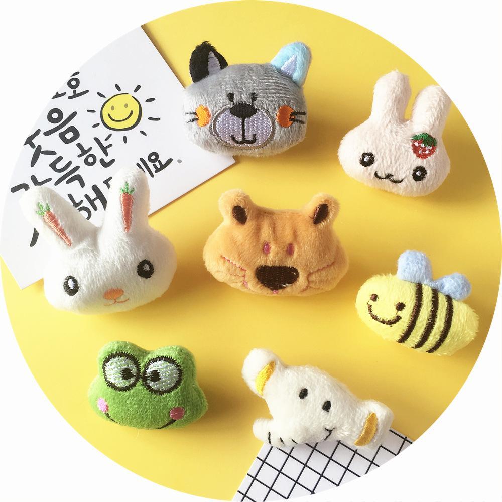 Korean Handmade Plush Cloth Cute Cartoon Animal Cat Brooch Pin Mini BADGE sweater jewelry rabbit bear frog elephant Brooch
