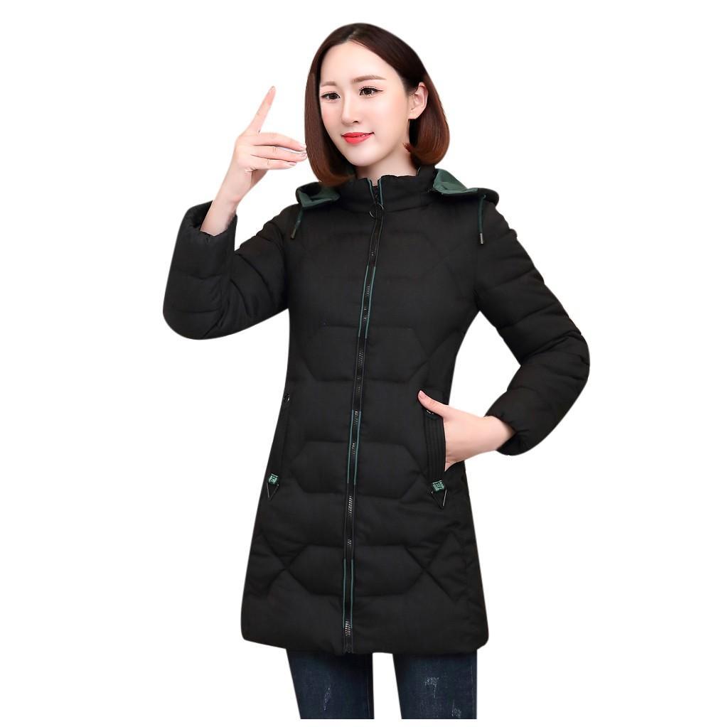 Brasão Mulheres Winter 2019 Plus Size hiver elegante Quente solto Hoodies casacos longos Feminino Oversize com capuz Overcoat manteau femme