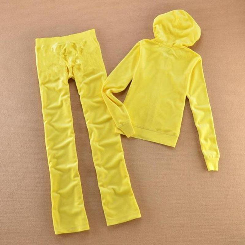 Spring Automne Femmes et costumes Tracksuits Tissu Xs Suit Sweats à Hoodies Velvet Femmes - Pantalons Velours Taille de la marque XL HoHSB
