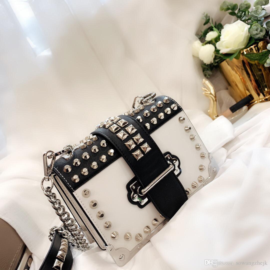 أكياس أزياء المرأة الكتف فاني كيس صغير برشام كأا أنيقة عارضة حقيبة الكتف حقيبة مربع CROSSBODY للإناث