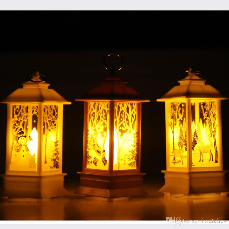 Noel ışık dekorasyon mum lamba alev rüzgar hafif Noel Baba dekorasyon yaratıcı kişilik tatil süslemeleri LED