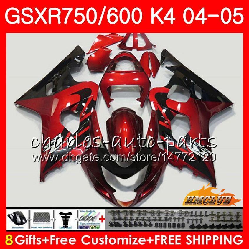 BodysForSUZUKIGSXR750GSXR600R750GSXR600200420057HC.57GSXR600GSXR-750Dark red stock 0405GSX-R600K4GSXR7500405Fairings