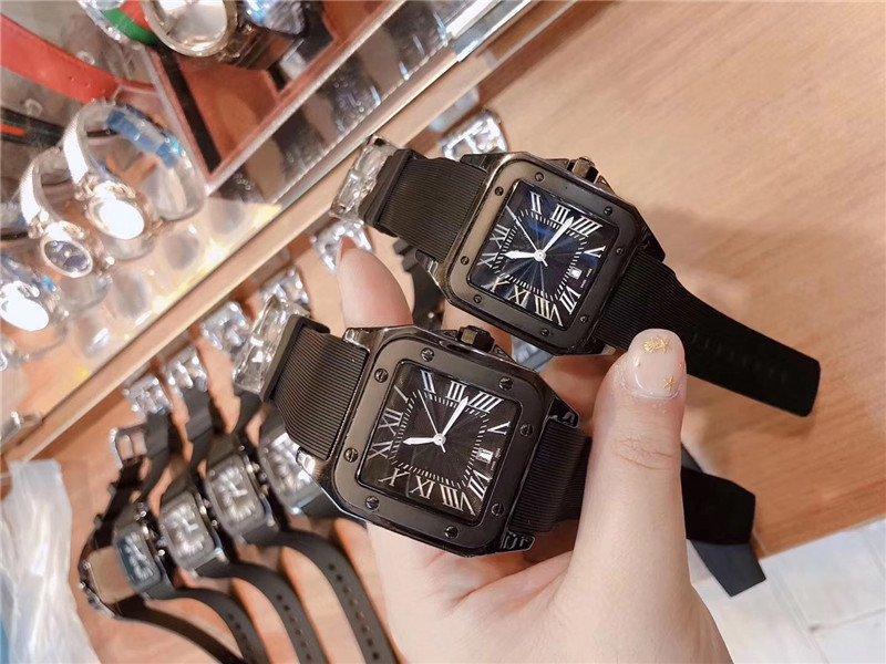New Arrivals Moda aço de alta qualidade Mens Homens Mulheres Japão Quartz Estilo relógios Relógio de luxo CA076