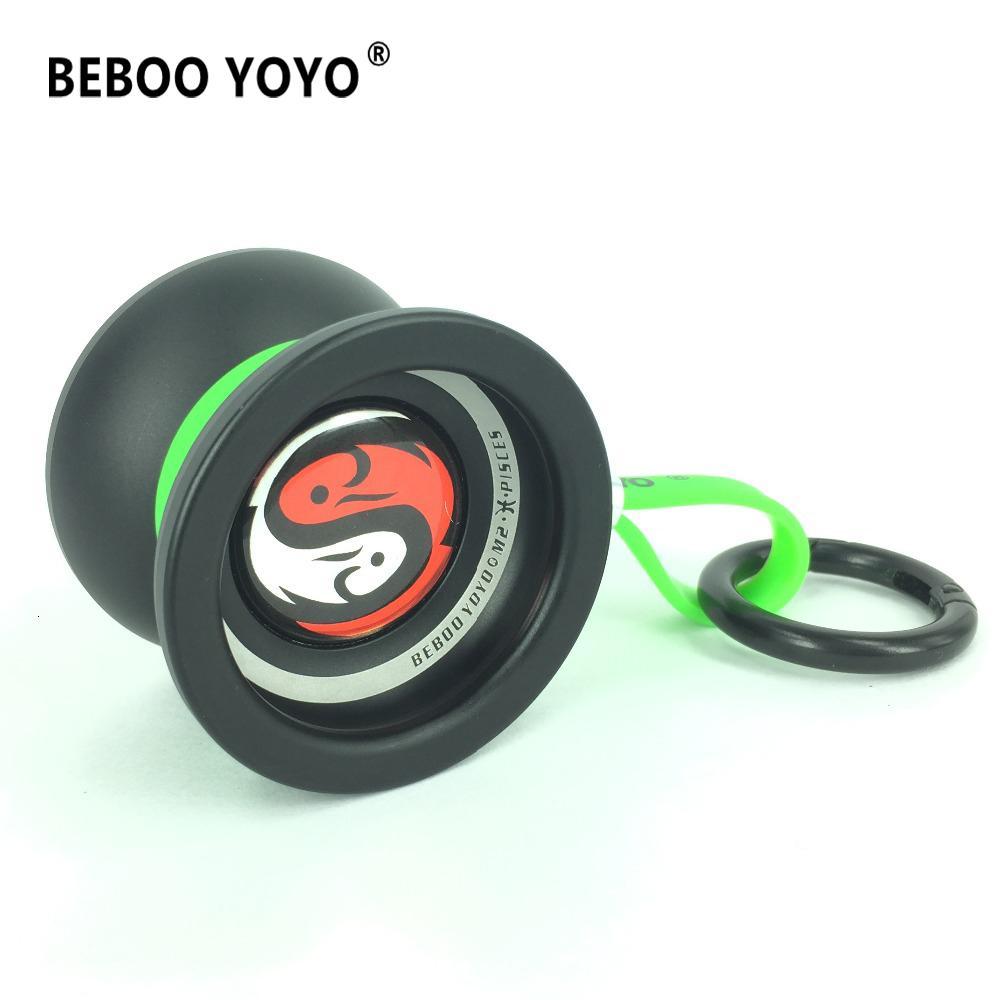 BEBOO YOYO Professional Yo-yo 10 ball bearing Metal Aluminum alloy M2 yoyo Classic Toys Diabolo Gift as gift 2017 new arrival SH190913