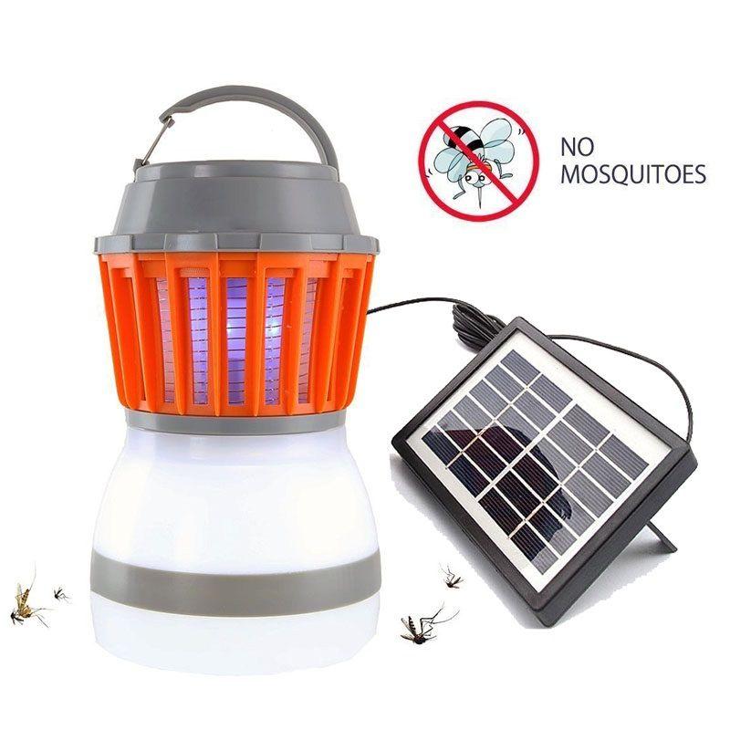 Solarmoskito-Mörder-Lampe Außen Bug Zapper-Fall Camping Laterne 2in1 Portable USB Anti Moskito-Fliegen-Insekt-Mörder-Zelt-Licht