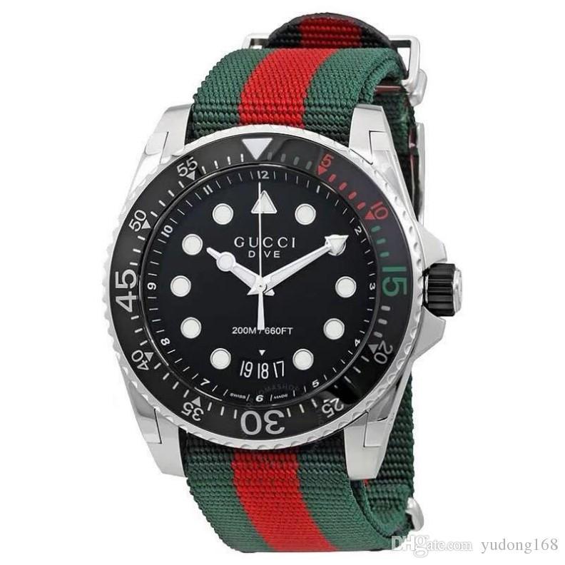 2020 ساخنة جديدة أزياء الرجال الفاخرة الرياضية الترفيهية ساعة النايلون حزام العلامة التجارية تقويم الساعات الترفيهية الكوارتز