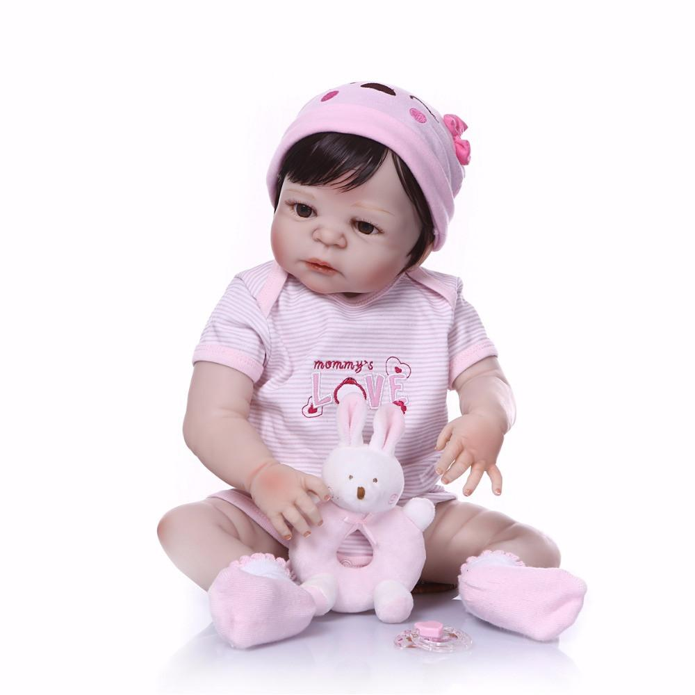 Bebe Reborn 2018 New design Doll Full Silicone Body Lifelike Reborn Prince Doll Handmade Baby Toy hot Xmas Gifts