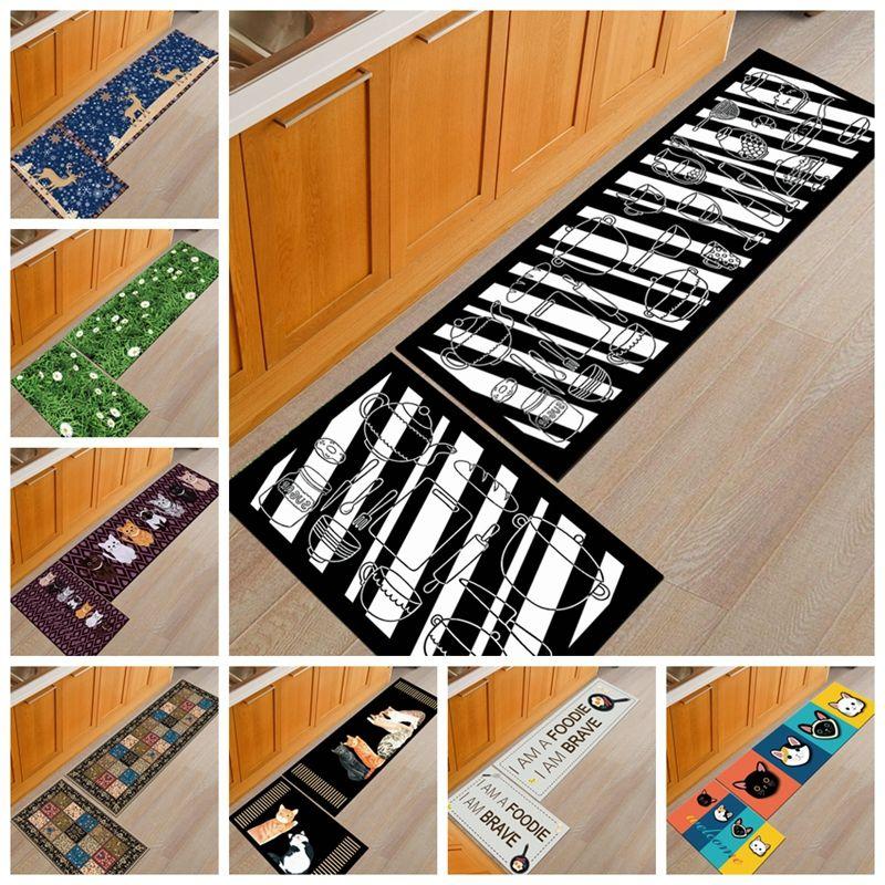 Creative Kitchen Carpet Tapete Soft Home Kitchen Floor Mat Anti-Slip Rugs Entrance Hallway Door Mat Wardrobe Balcony Area Rug