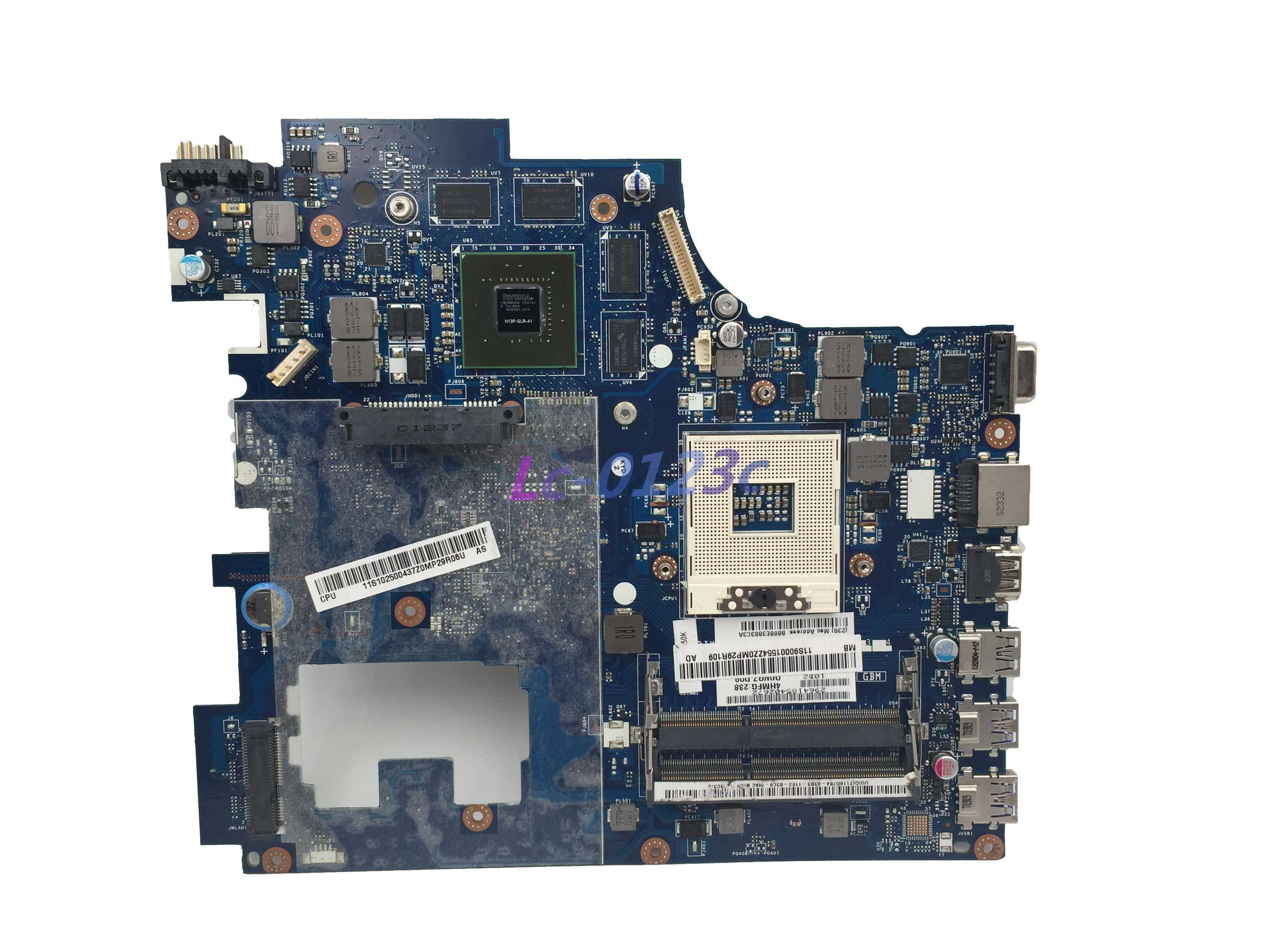 FULCOL For Lenovo G780 Laptop motherboard 90001554 HM76 GT635M 2 GB GPU QIWG7 LA-7983P DDR3
