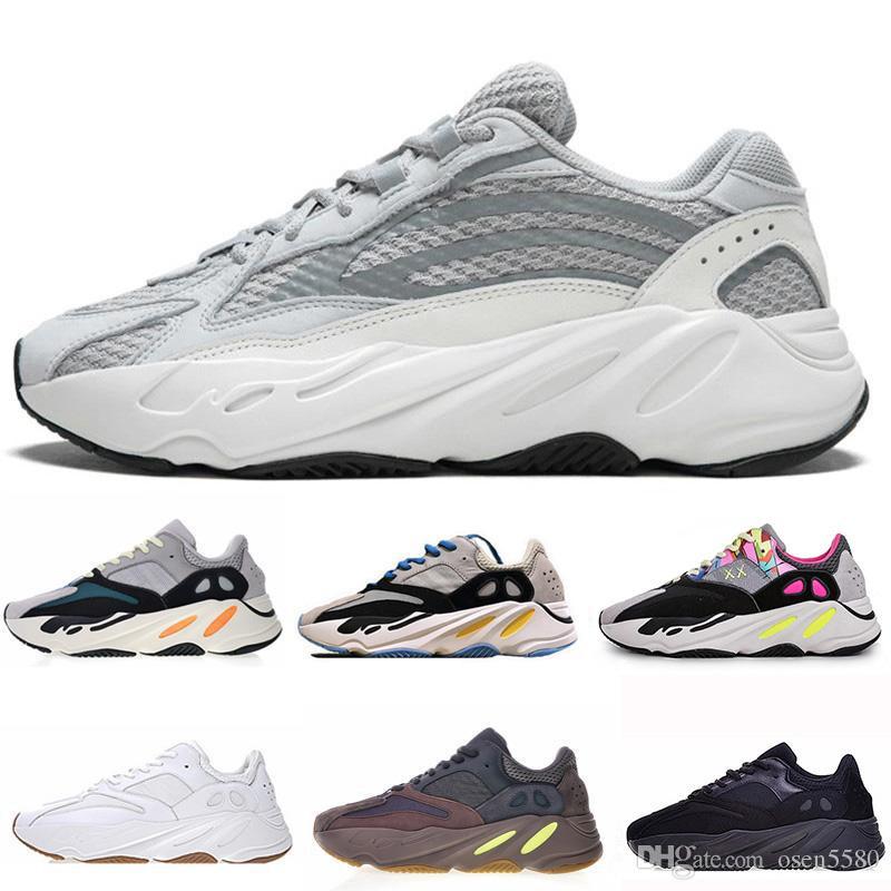 2019 Kanye West Blush Desert Rat yung 1 500 700 Super Solid Grey OG Moon Yellow Utility 3M Black Men Women Wave Runner casual Shoes Sneaker