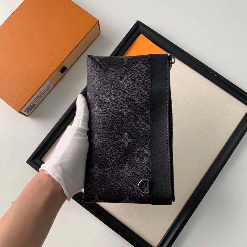20 * 10CM مصمم محفظة الرجال والنساء الكلاسيكية كيس نقود قابض حقيبة سستة محفظة النقود المعدنية مع مربع