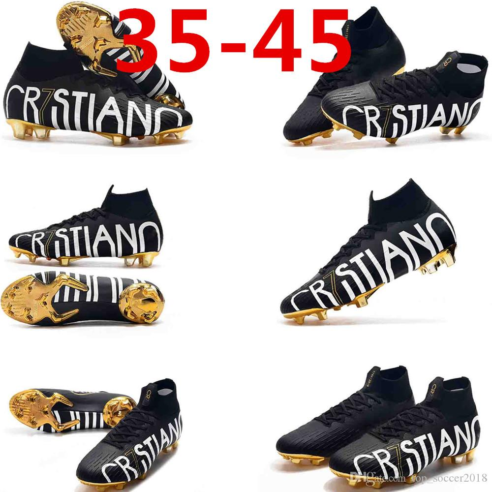 Football Boots Nuovo White Pack best Soccer Cleats Mercurial Superfly V 360 elite Neymar Soccer Shoes Mens Top Cristiano Ronaldo 36-45