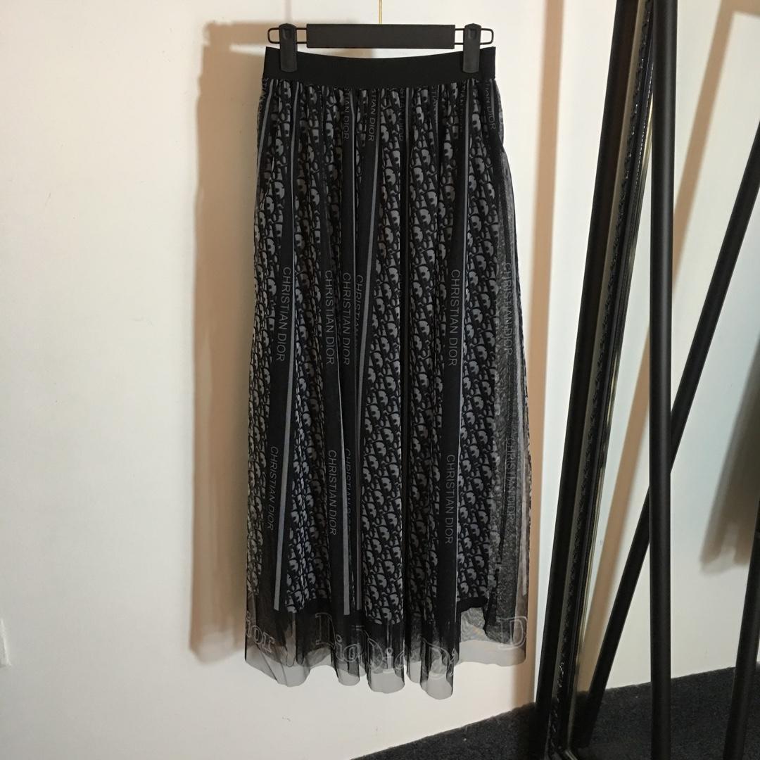 Milan Designer Women Skirts Gorgeous G Letter grid Print Pleats Skirts Women 2019 Spring summer Skirts 041903WL