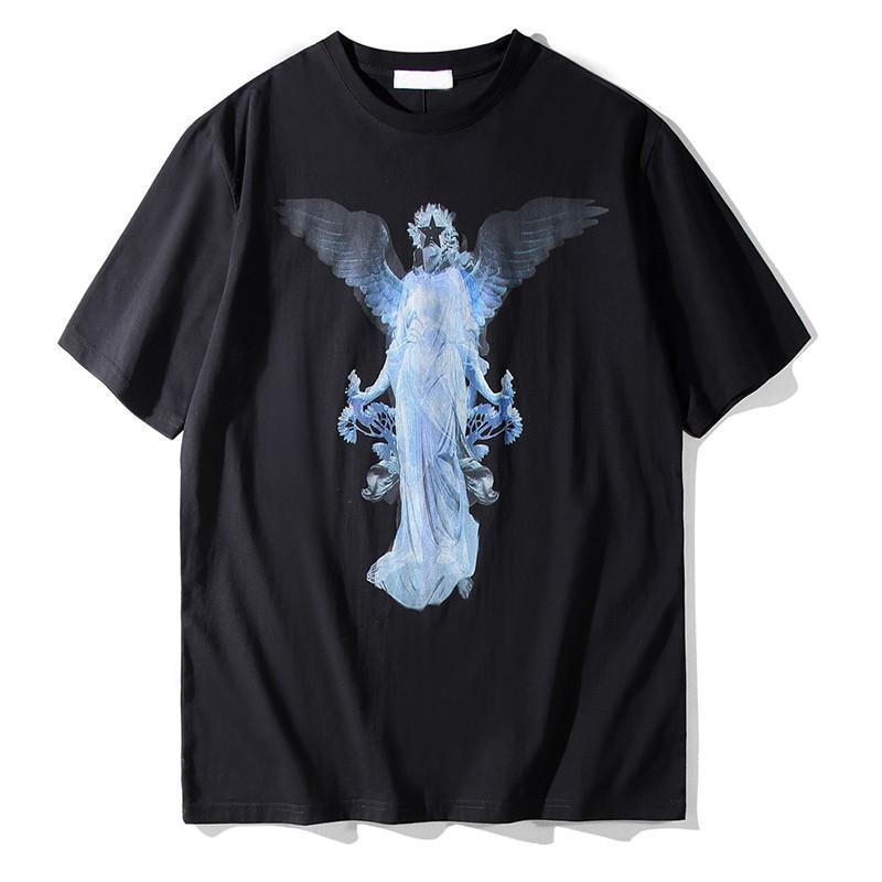 19SS luxe Mens Designer T-shirt en coton imprimé couple manches courtes tendance Fahion T-shirts pour hommes Taille S-2XL