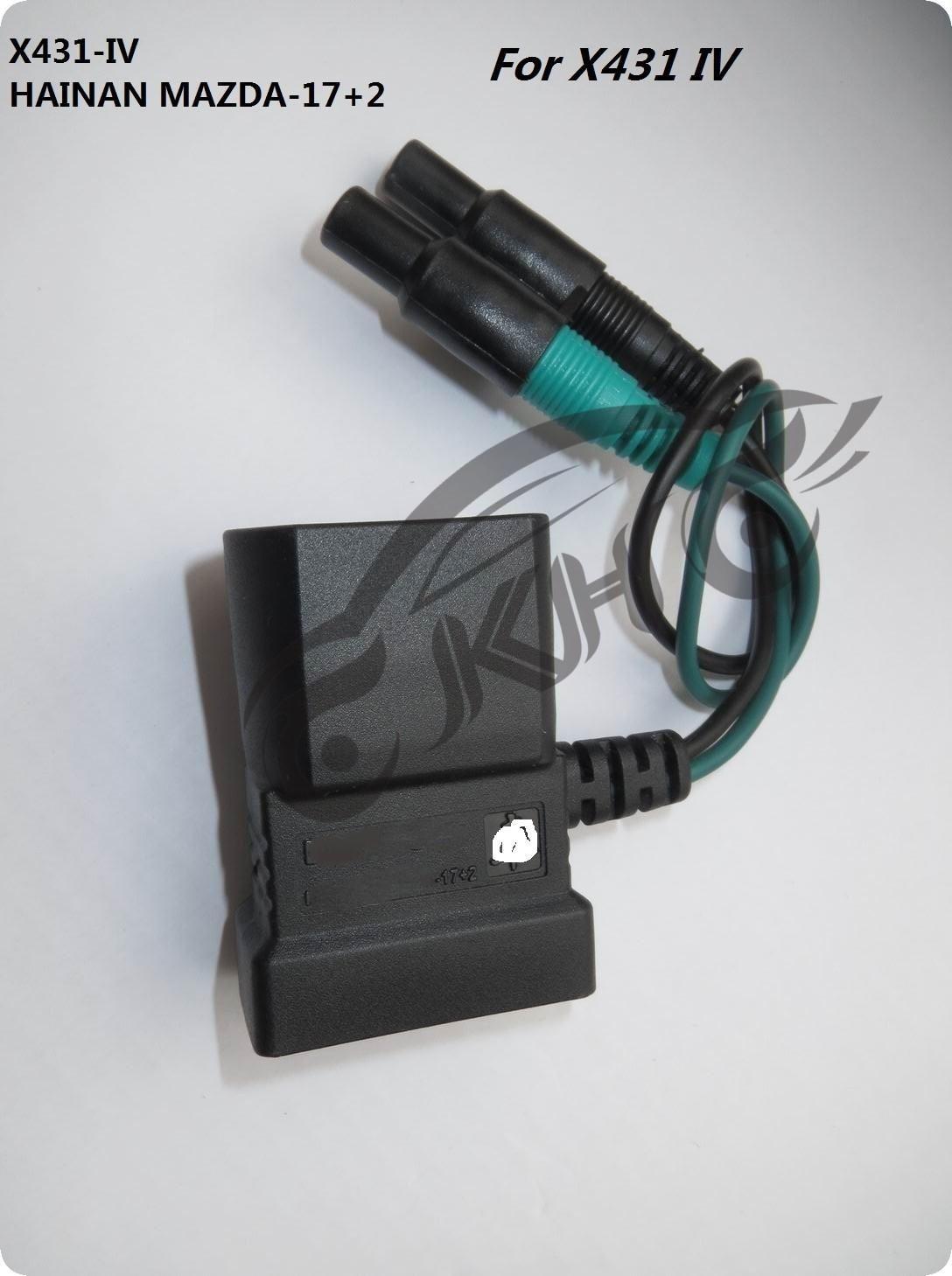الأصل لإطلاق X431 لهيماء -17 2 دبابيس محول رابعا -17 2 دبوس OBD-II موصل اتصال لمحول OBD2