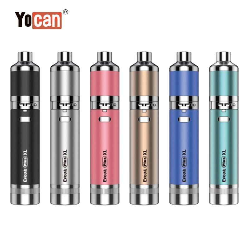 Vente chaude Yocan Evolve Plus XL Kits de démarreur XL Vaporisateur de cire Pen-stylo de la batterie 1400mAh avec JAR Silicon JAR Quad à quartz Bobine 100% originale DHL