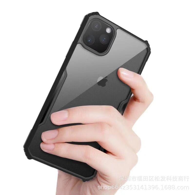 Quatre coins anti-chute manches acrylique dure de téléphone cellulaire cas pour Apple iphone11 XR XS Fitted
