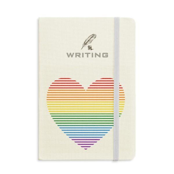 Arco-íris Gay Lesbian Forrado coração LGBT Escrita Notebook clássico Jornal Diário A5