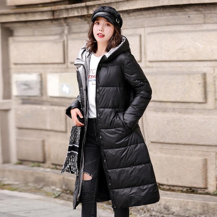 утка вниз куртки зимы женщин Плюс Размер Верхняя одежда Пальто Женщины Long Casual Light Jacket Тонкий теплый вниз Puffer Parka 4xl 5xl