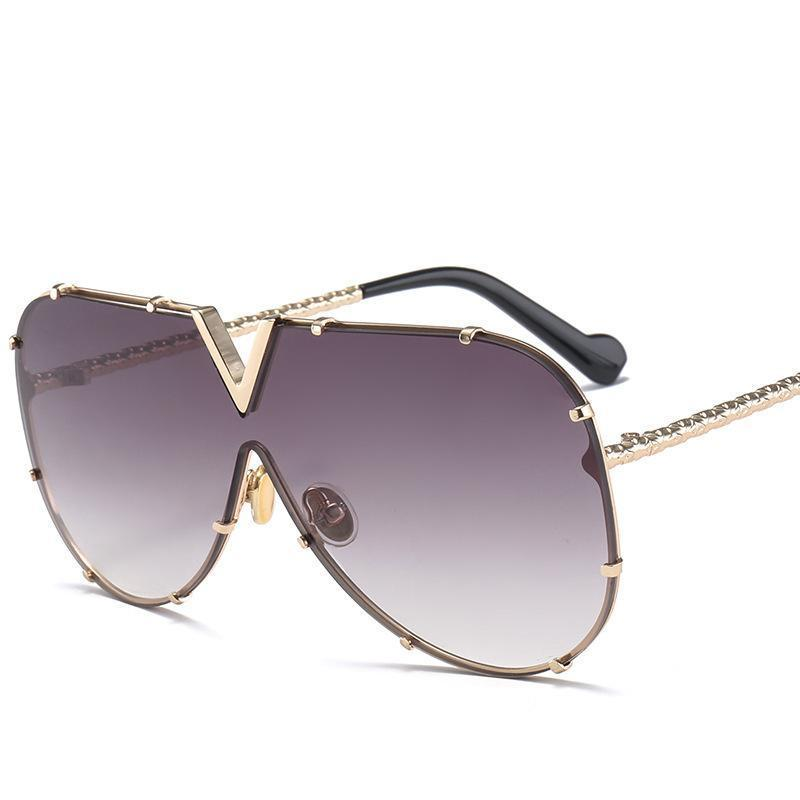 X907 Occhiali da sole pilota donne del progettista di marca Gli uomini di lusso specchio Sunglass V Oversize libero femminile vetro di Sun degli occhiali femminile Flat Top
