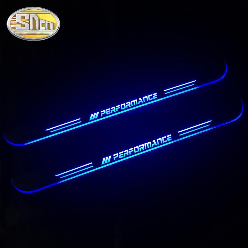 LED에 오신 것을 환영합니다 페달 자동차 스커프 플레이트 페달 문 창턱 통로 빛 E90 2006 이동 SNCN 방수 아크릴 - 2010 2011