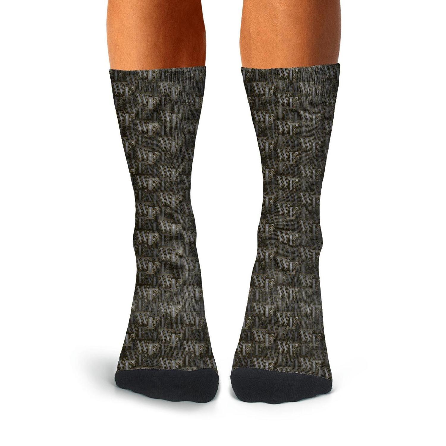 Man Wake Forest Demon Deacons basket noir Chaussettes Boot Fit Coton mince haute cheville Cozy Excellente Bulldogs stripe Gloden treillis canards
