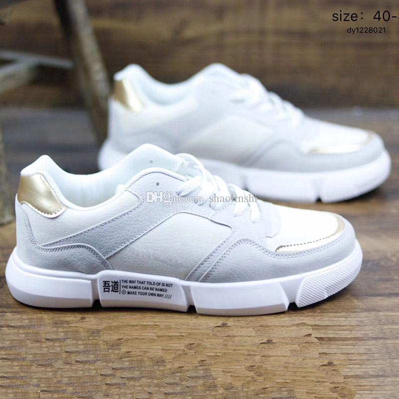 Großhandel 2019 Großhandel Herrenschuhe Wudao Joint Leder Schnalle Sportschuhe Weiß Blau Grau Sportschuhe Größe 39 44 Von Shaolinshi, $39.6 Auf