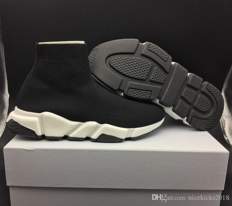 Novo design de calçados Sock Luxo Corredores de corrida Speed Trainer respirável Sneakers Speed Trainer meia preta Sapatos homens e mulheres Sports Shoes 36-45