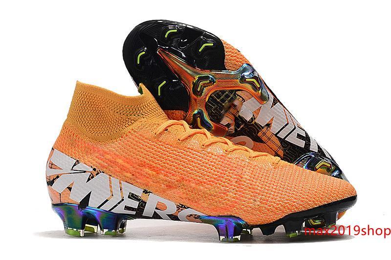 Hot mens chaussures de football Superfly 7 crampons de football Elite SE FG CR7 chaussures de football Mercurial neymar 13 Elite Vapeurs Superfly 7 FG6.5-11