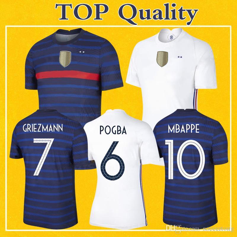Maillot França Jersey 2020 EURO Soccer Jersey Mbappé GRIEZMANN Kante Pogba GIROUD 20 21 Maillot De Pé