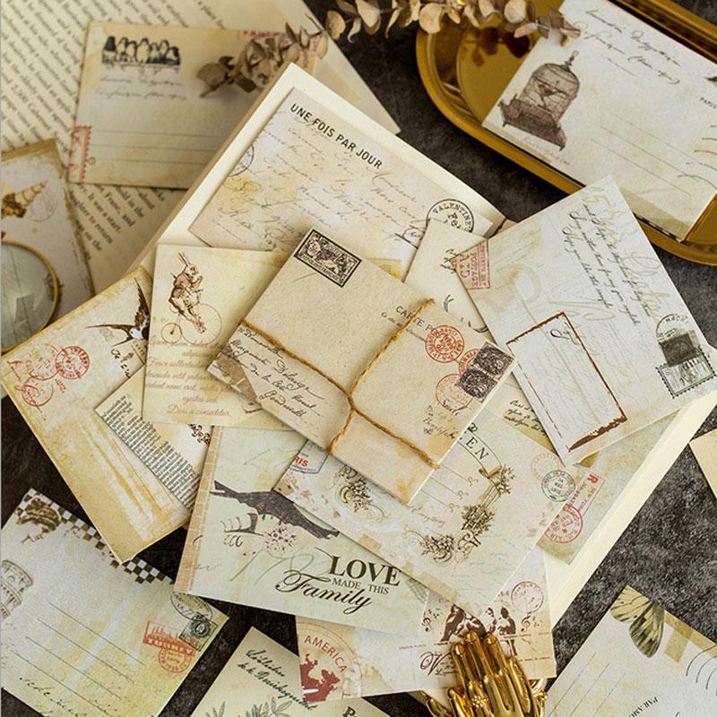 12pcs / lot Rétro mini enveloppes pour invitations en-tête de bureau papier à lettres papeterie anniversaire lettre papier enveloppes cadeau