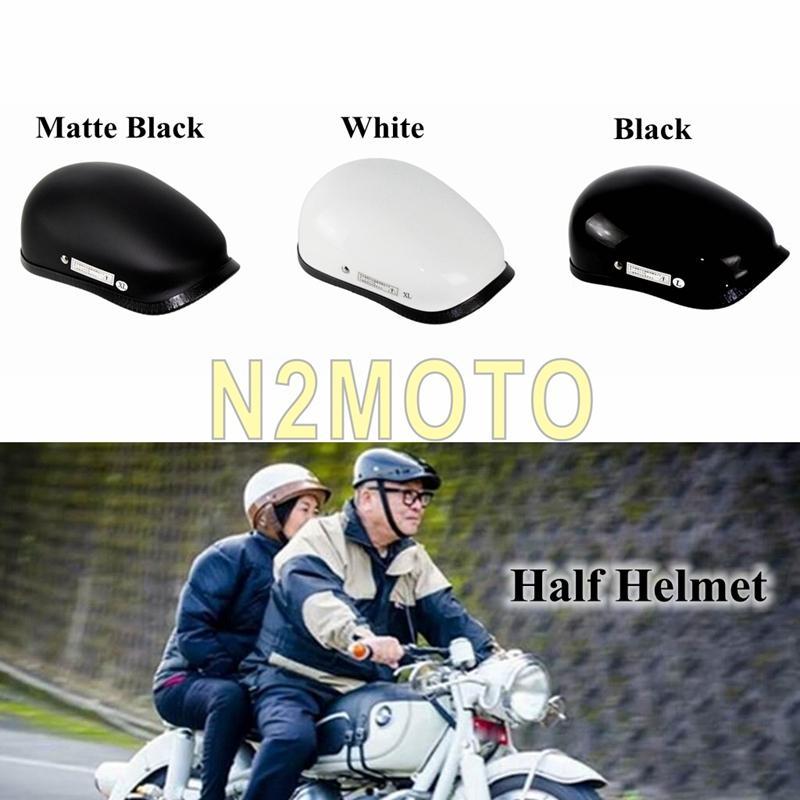 3 colori mezzo del fronte del casco moto d'epoca in fibra di vetro Shell novità Caschi per unisex Cafe Racer stile di svago Motobike del casco