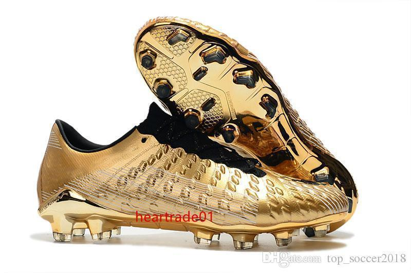 Original Botas de futebol do ouro Hypervenom Fantasma III DF FG Mens chuteiras Atacado Low tornozelo futebol chuteiras
