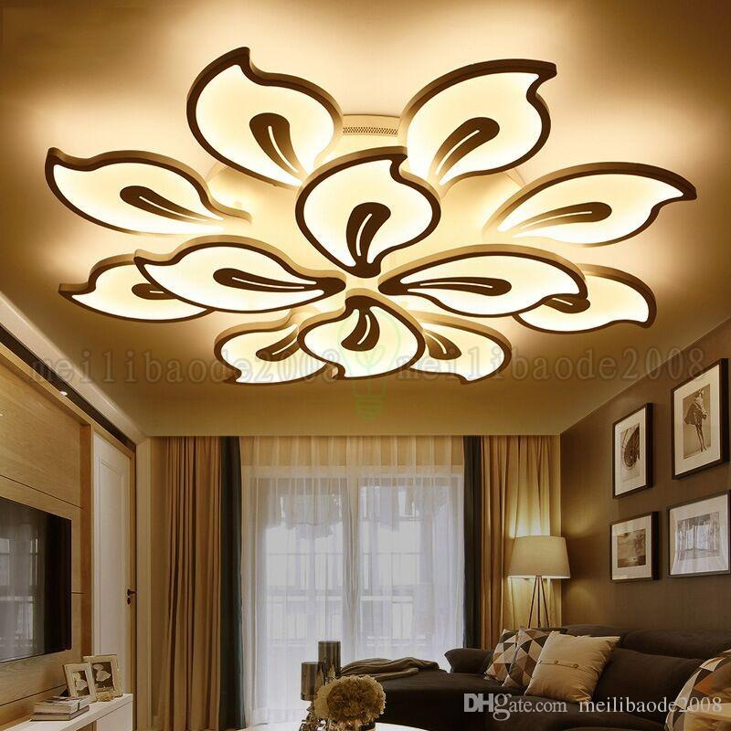 Nordic Post-modern Simple LED Ceiling Lamp Lamps, Fashion Creative Personality Flower Lights Lighting For Bedroom Living Room AC 110-220V