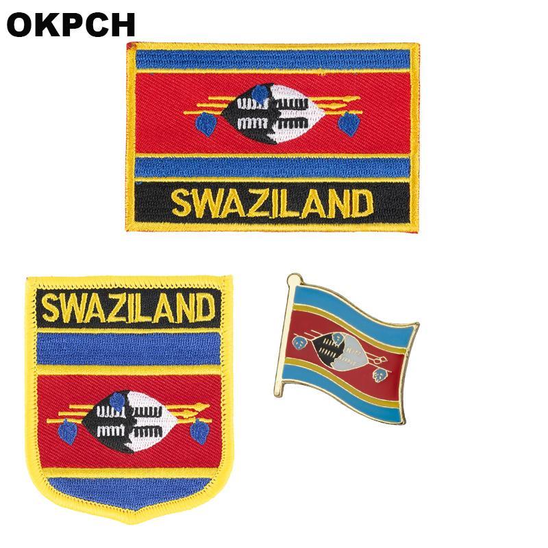 Bandeira da suazaba remendo emblema 3 pcs um conjunto de patches para roupas diy decoração PT0166-3