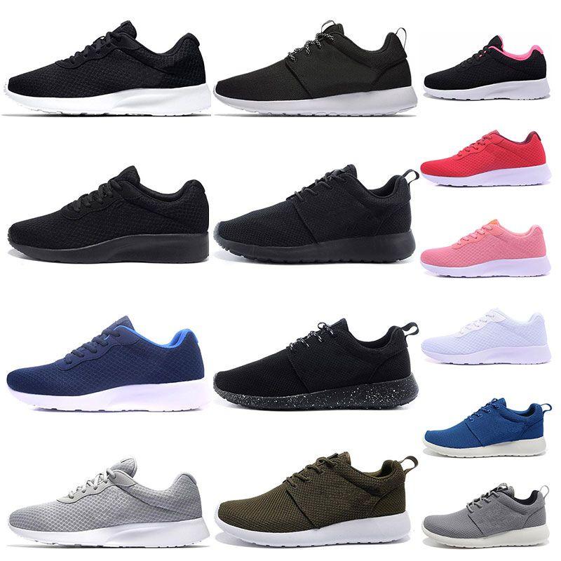 저렴한 Tanjun 실행 신발 남성 여성 블랙 낮은 경량 통기성 런던 올림픽 스포츠 운동화 트레이너 크기 36-45