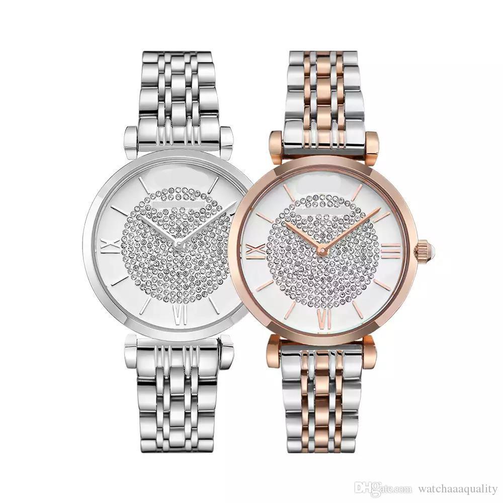 hediye kutusu basit eğilim su geçirmez tam elmas watch88 ile En moda marka kaliteli bayan paslanmaz çelik kelebek toka izle