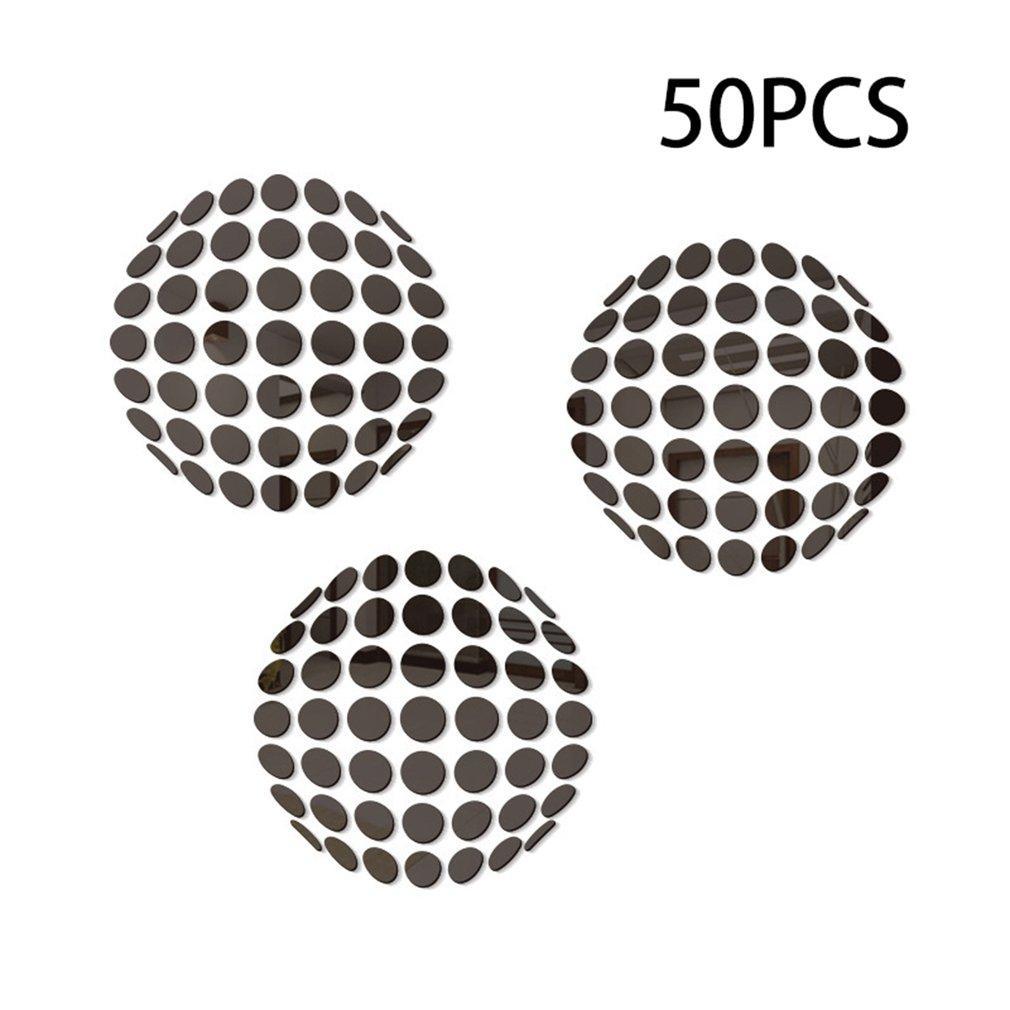 Miroir acrylique Diy muraux Dot Stickers Stickers Home Living Chambre Décoration 2cm forme ronde Salle de bain Autocollants