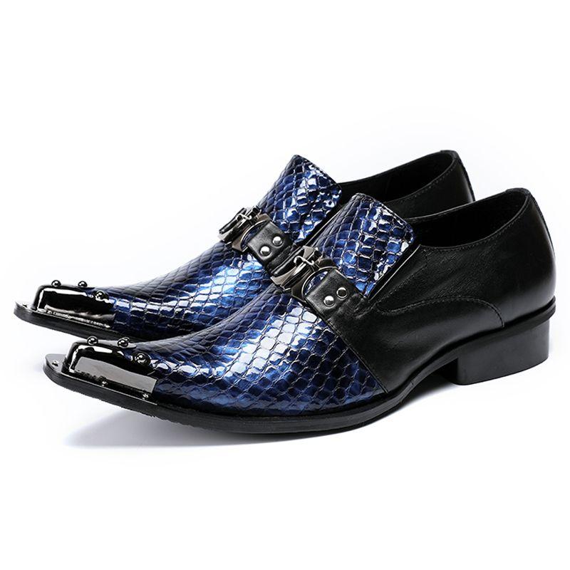 Nuovi mocassini da uomo in pelle verniciati di lusso a punta scivolata sull'aumento per aumentare le scarpe da banchetto da uomo