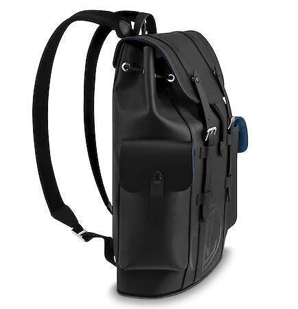 M53302 Christopher Pm moda uomo nero borsa da viaggio zaini moda mostra borse da lavoro in pelle ossidata borse totes borse a tracolla