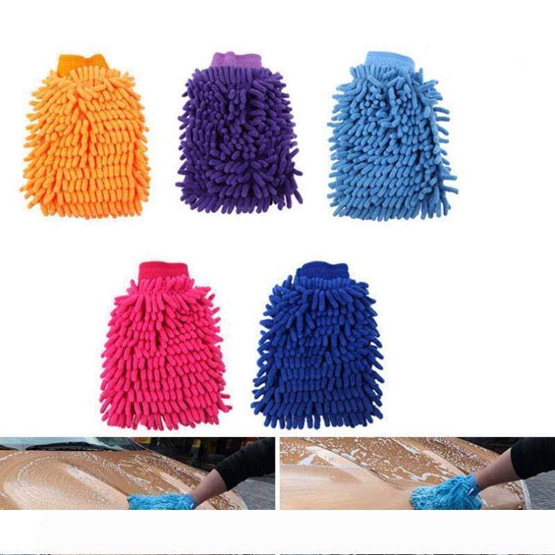 Автомобиль стиральная перчатки чистки двойная сторона синель автомобиль мыть инструмент для чистки microfiber перчатки Оптовая Бесплатная доставка
