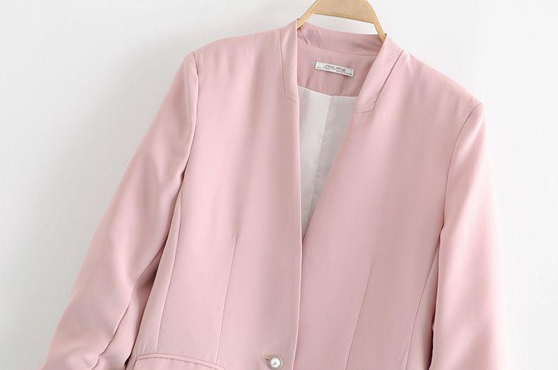 Stile occidentale 2019 vestito delle donne di estate e di nuovo stile versatile di dimagramento casual Elegante monopetto vestito giacca Tops