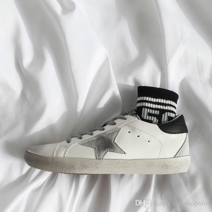 ggdb2020 Chaussures pas cher Designer or Femme Homme Enfant Chaussures de sport basket en cours Oies Baskets Mocassins Clog Plate-forme Kanye Tripler Mid